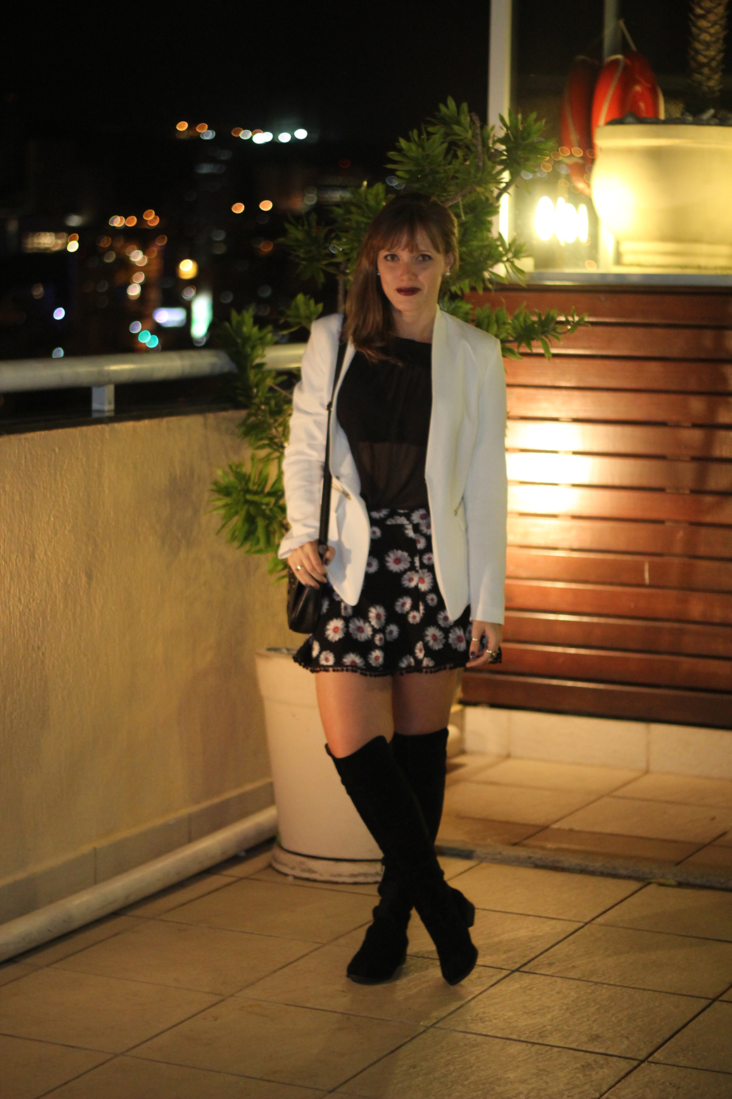 Look saia blazer e bota over knee 3