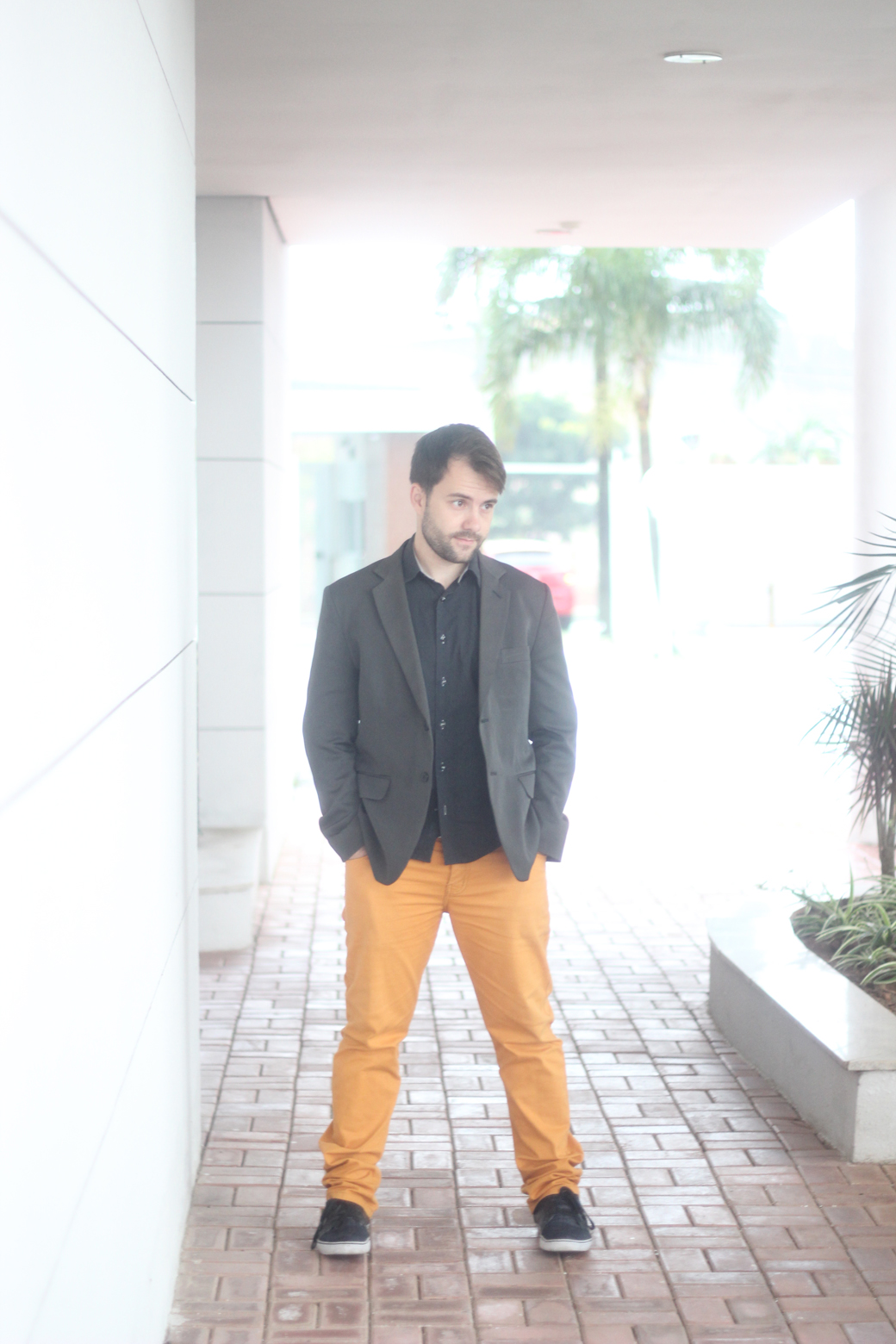 Look do marido calça colorida 4